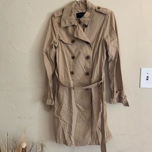 J. Crew classic long trench coat 🧥